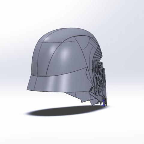 Capture d'écran (71).png Télécharger fichier STL gratuit Casque Kylo Ren • Design imprimable en 3D, ekynops