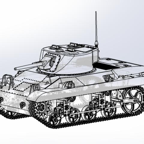 Capture d'écran (68).png Download free STL file M-22 tank • Model to 3D print, DordseGer