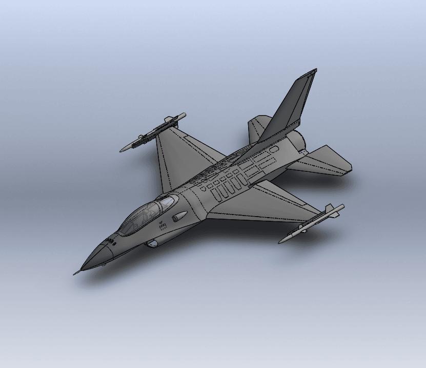Capture d'écran (60).png Télécharger fichier STL gratuit F-16 Fighting Falcon • Objet pour imprimante 3D, ekynops