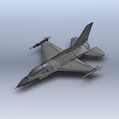 Download free 3D printing designs F-16 Fighting Falcon, ekynops