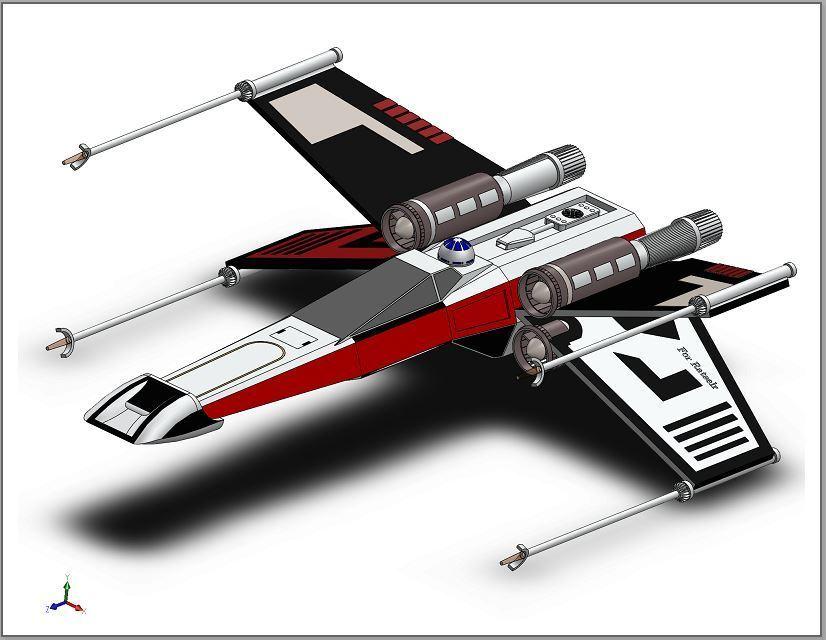 picture nave.JPG Download free STL file X-Wing Star Wars • 3D print design, ekynops