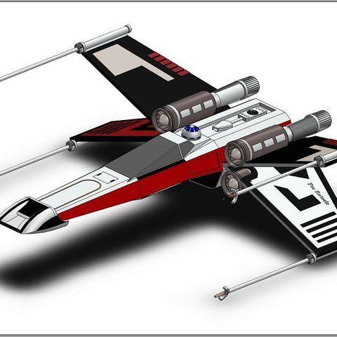 Download free 3D printer templates X-Wing Star Wars, ekynops