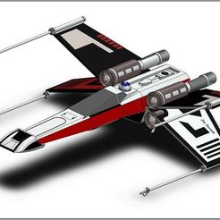 Download free 3D printer templates X-Wing Star Wars, ekynops