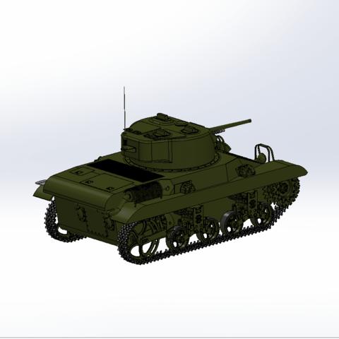 Capture d'écran (66).png Download free STL file M-22 tank • Model to 3D print, DordseGer