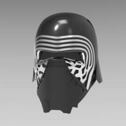 stl files Kylo Ren Helmet, ekynops