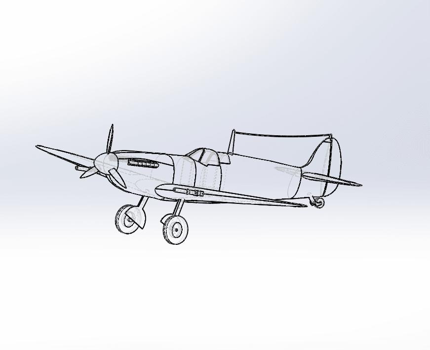 Capture d'écran (72).png Télécharger fichier STL gratuit  Supermarine Spitfire • Modèle pour imprimante 3D, ekynops