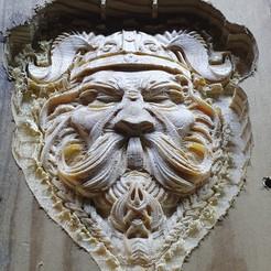 Download free STL file viking warrior face bust cnc art • 3D printing model, hiphouser