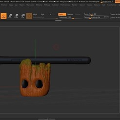 Free Groot Pen Holder 3D printer file, Fizzer2130