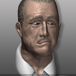 Download free OBJ file The Godfather - Der Pate - Don Vito Corleone • 3D printable object, Nemoriko