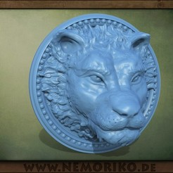 Lion_nemoriko.jpg Download STL file Nemoriko`s : Lion Ornament • Object to 3D print, Nemoriko