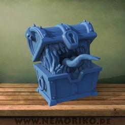 kiste.jpg Download STL file Tabletop Mimic Monster Chest - Die Truhe • 3D print model, Nemoriko