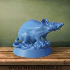 Ratte.44.jpg Download OBJ file Nemoriko`s : Tabletop Rat Marker • 3D print design, Nemoriko