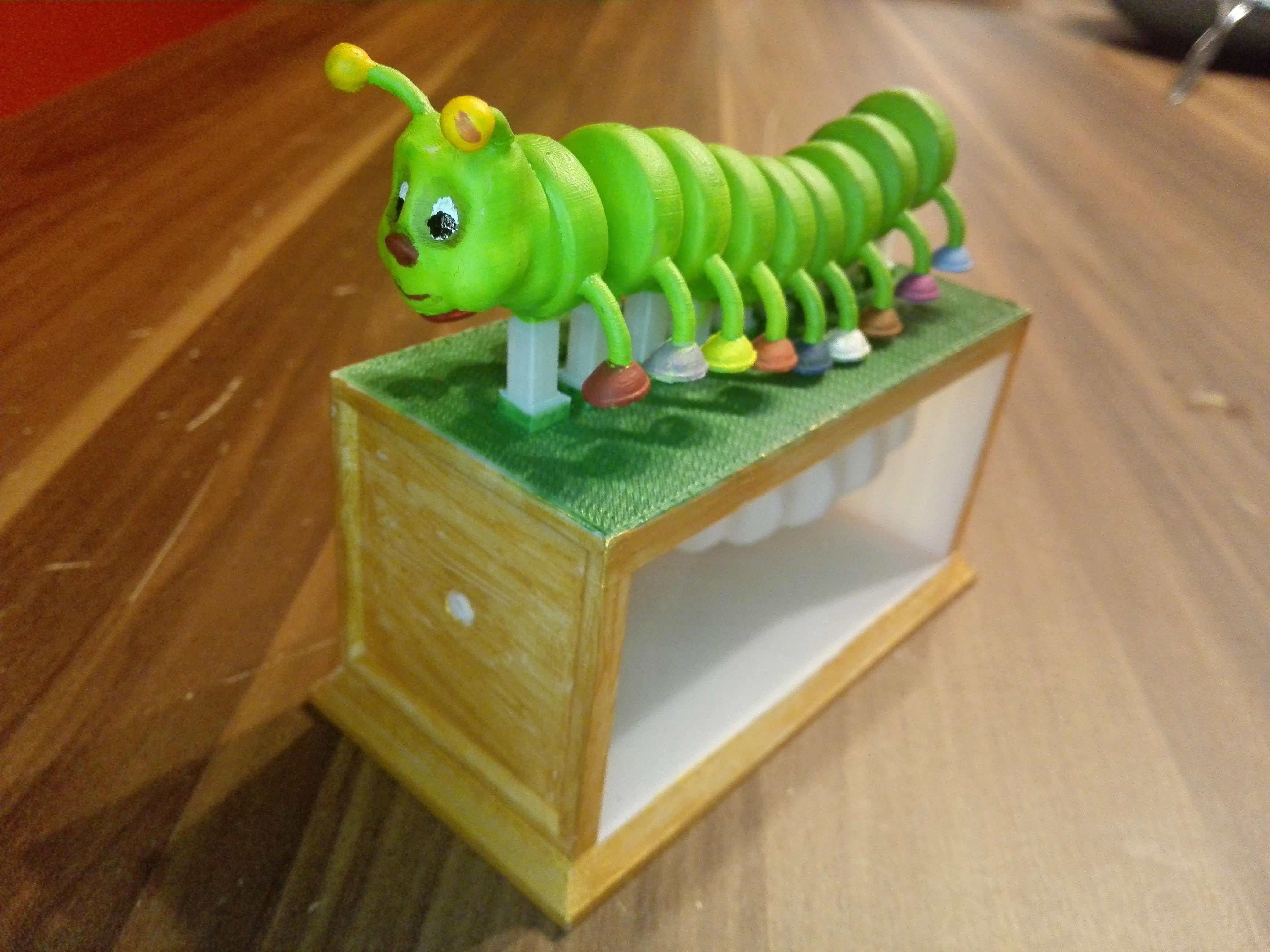 Color.jpg Télécharger fichier OBJ gratuit Nemoriko's : Petite chenille hétéroclite • Objet pour imprimante 3D, Nemoriko
