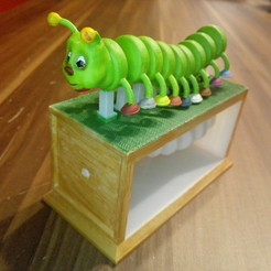 Download free OBJ file Nemoriko´s : Little motley Caterpillar • 3D printable object, Nemoriko