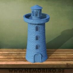 turm.46.jpg Download OBJ file Nemoriko`s : Tabletop Lighthouse • 3D print model, Nemoriko