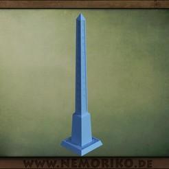 Obelisk_00.jpg Download STL file Nemoriko`s : Tabletop Obelisk (marker) • 3D printer object, Nemoriko