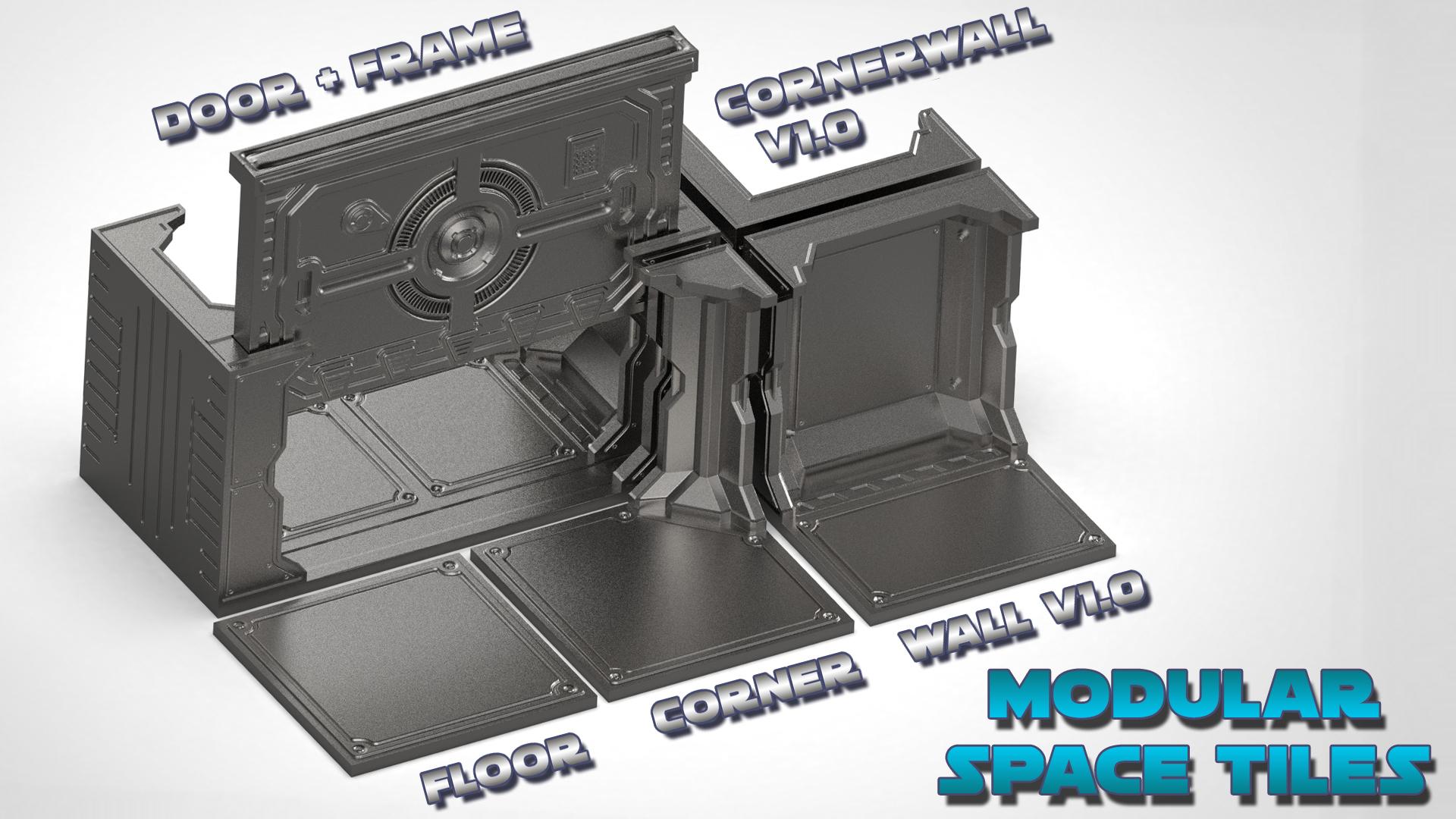 Mainset_B.jpg Télécharger fichier STL Modular Space Tiles (kit de base pour votre table) [Kickstarterproject] • Modèle imprimable en 3D, Nemoriko