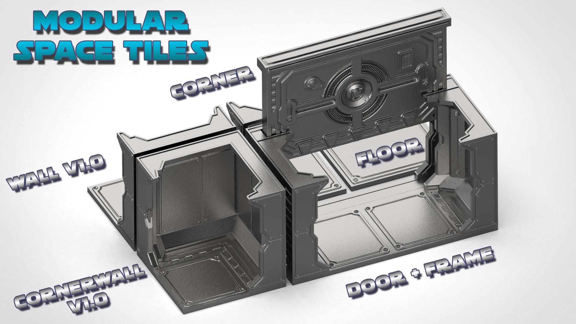 Mainset_A.jpg Télécharger fichier STL Modular Space Tiles (kit de base pour votre table) [Kickstarterproject] • Modèle imprimable en 3D, Nemoriko