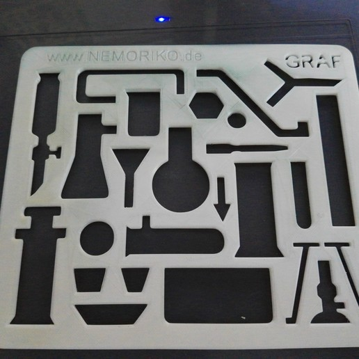 Download free OBJ file Nemoriko´s : Chemie Schablone - Chemistry template pattern • 3D printable design, Nemoriko