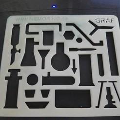 Download free 3D printer model Nemoriko´s : Chemie Schablone - Chemistry template pattern, Nemoriko