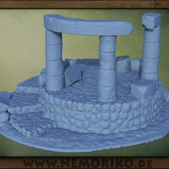 Ritualkreis.30.jpg Download OBJ file Nemoriko`s : Tabletop Ritual - Stone - Circle • 3D printer design, Nemoriko