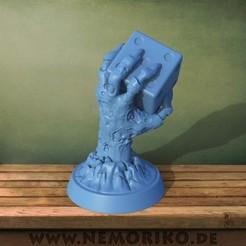 hand.52.jpg Télécharger fichier OBJ Nemoriko`s : Main de dés zombie de table • Plan pour imprimante 3D, Nemoriko