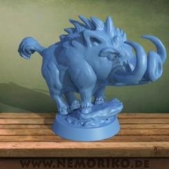 schwein.47.jpg Download OBJ file Nemoriko`s : Tabletop wild boar marker • 3D printer design, Nemoriko