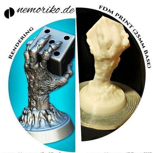 Télécharger fichier OBJ Nemoriko`s : Main de dés zombie de table • Plan pour imprimante 3D, Nemoriko