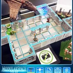 Download STL file Modular Space Tiles (Additional Set 2 for your tabletop) [Kickstarterproject] • 3D printer object, Nemoriko