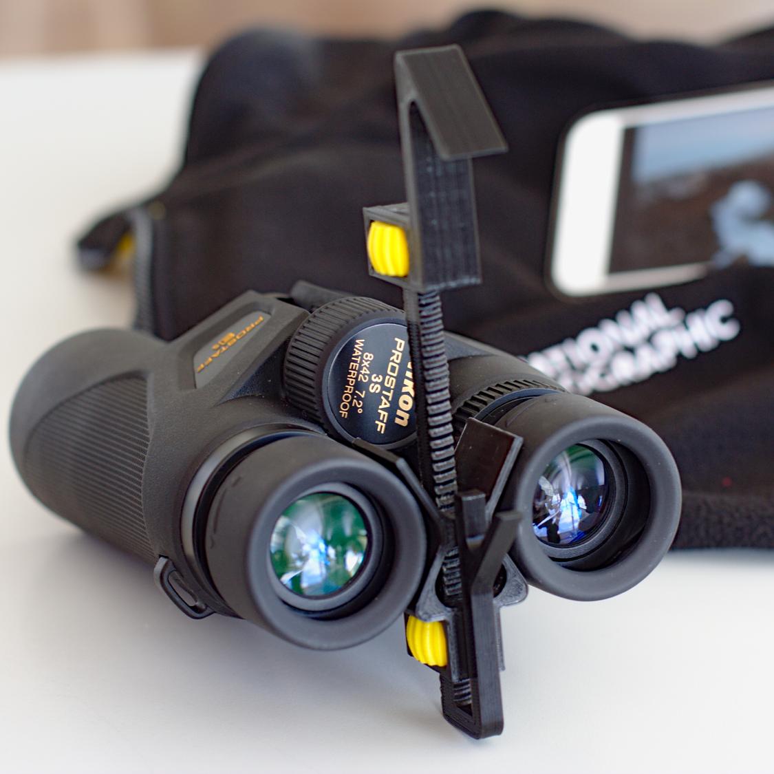 photoJumelles.png Download free STL file Universal Adapter Smartphone-Binoculars • 3D printer design, Matlek