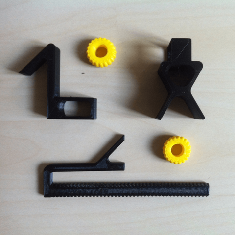 all_pieces.png Download free STL file Universal Adapter Smartphone-Binoculars • 3D printer design, Matlek