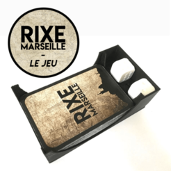 Download free 3D printer designs Card and dice holder - Rixe Marseille, Matlek