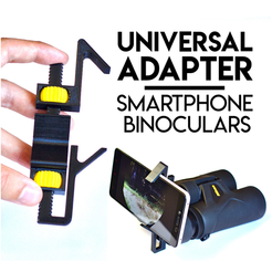 Free 3d printer model Universal Adapter Smartphone-Binoculars, Matlek