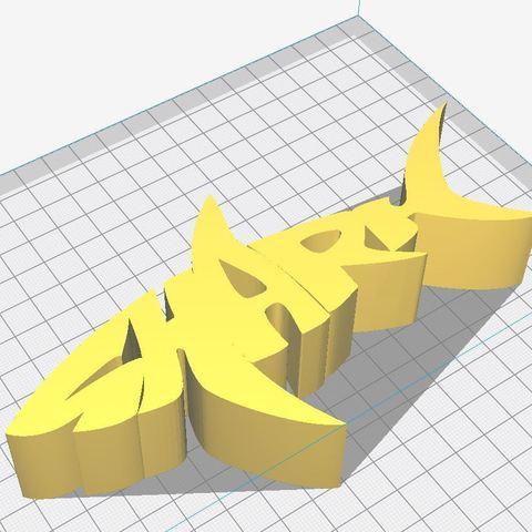 shark.JPG Download free STL file Text Extrude, Shark • 3D printer template, mr_printer_bot