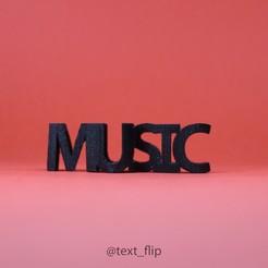 Modèle 3D gratuit Texte Flip. Musique - Clé de sol, MrP023