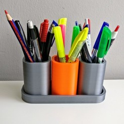 Free stl file Modular pen holder, vimamsa