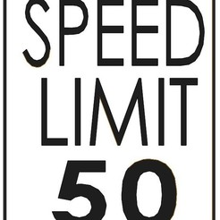 SPEED_LIMIT.jpg Download STL file speed limit sign • Design to 3D print, aamn-4132-molina
