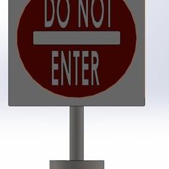 DO NOT ENTER.jpg Télécharger fichier STL n'entrez pas le signe • Plan pour impression 3D, aamn-4132-molina