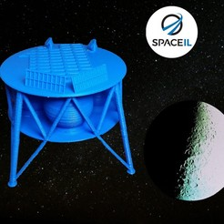 Download free STL files Beresheet Lunar Lander - SpaceIL, alonmln