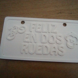 Free STL bicycle plate, TMDs