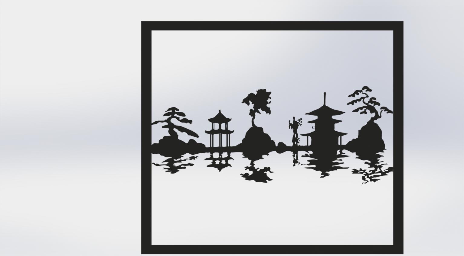 paisaje japones.png Télécharger fichier STL gratuit Carte du paysage japonais • Design à imprimer en 3D, TMDs