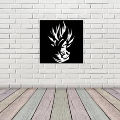 goku interior design.png Download free STL file Goku Picture • 3D print template, TMDs