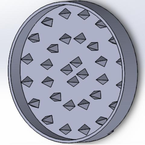 forma interna.png Download STL file grinder goku, thresher, scraper • 3D print template, TMDs