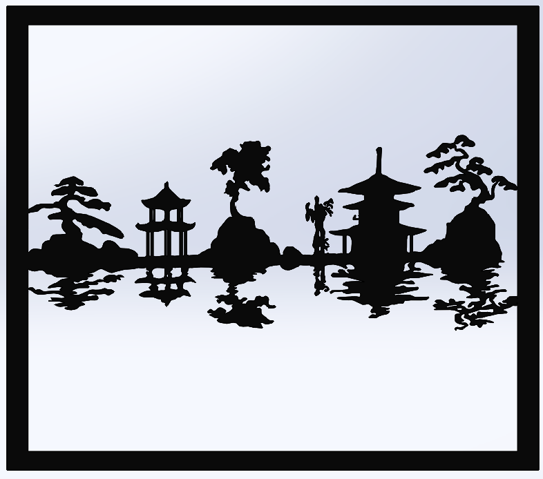 cuadro2.png Télécharger fichier STL gratuit Carte du paysage japonais • Design à imprimer en 3D, TMDs