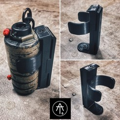 Download STL HOLSTER GRENADE KIMERA JR1, 2 AND 2.5, AT_Eleven_3D