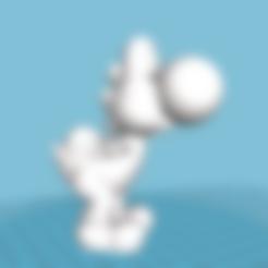 YOSHI_nouveau.obj Download OBJ file YOSHI • 3D printer object, florianlefait62
