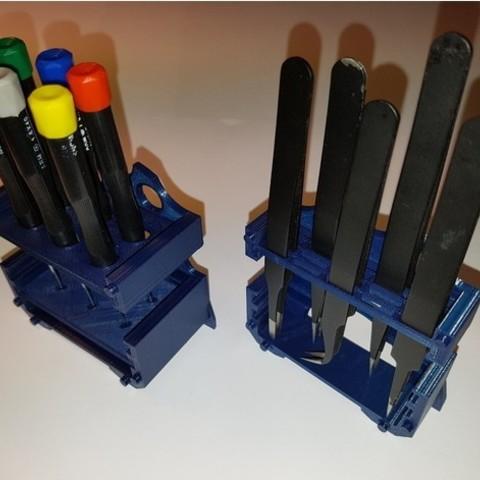d0096ec6c83575373e3a21d129ff8fef_preview_featured.jpg Download free STL file Tools modular desktop stand (Tweezer;Plier;Screwdriver) V 2.0 • Model to 3D print, ICTAvatar