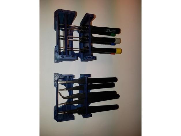 799bad5a3b514f096e69bbc4a7896cd9_preview_featured.jpg Download free STL file Tools modular desktop stand (Tweezer;Plier;Screwdriver) V 2.0 • Model to 3D print, ICTAvatar