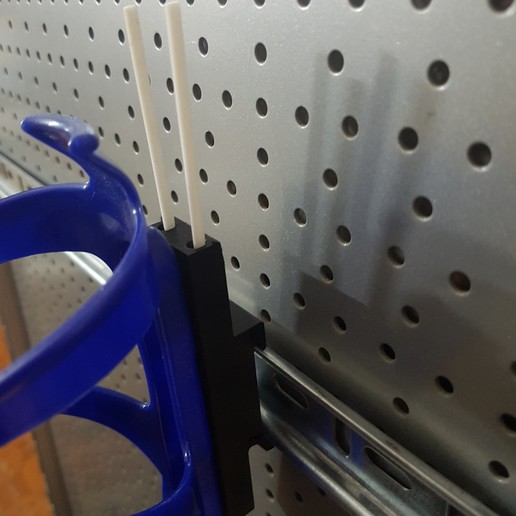 DIN4.jpg Download free STL file DIN Rail to Spray Holder (a bike bottle holder) • Model to 3D print, ICTAvatar