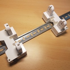 Download free STL file T8 LED Tube holder for testing using DIN rail or 20x20 profile • 3D printable model, ICTAvatar